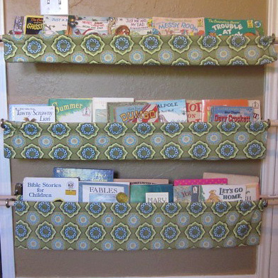 Friendly book slings and other creative diy book storage ideas