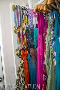 DIY slide-out scarf and belt organizers - * View Along the ...
