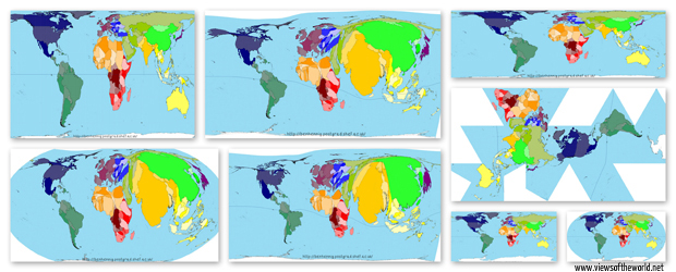 A brief look at map projections - Views of the World