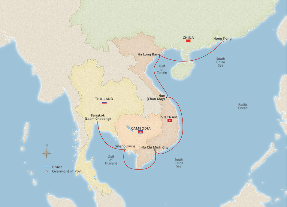 Southeast Asia  Hong Kong - Bangkok to Hong Kong - Cruise Overview