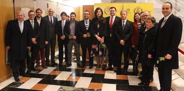 L'IES Francesc Tàrrega, Andrés Santos i Guillermo Rodríguez reben el Premi Poble 2018