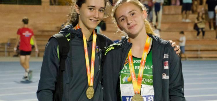 Ariana Gómez i Claudia Artero, del Club Atletisme Vila-real, subcampiones d'Espanya