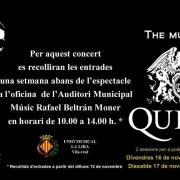 S'esgoten les entrades per als dos espectacles 'The music of Queen' de la Unió Musical La Lira