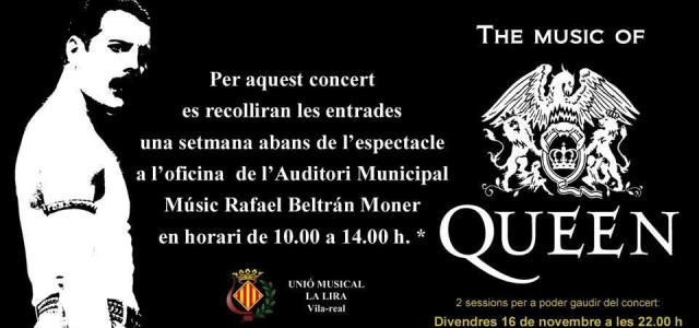 S'esgoten les entrades per als dos espectacles 'The music of Queen' de la Unió Musical La Lira