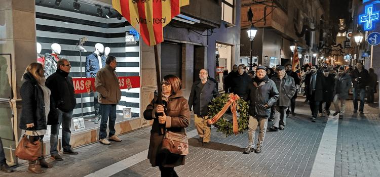 Vila-real commemora el 313é aniversari de la Crema en una reivindicativa marxa cívica