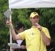 Race Director Ryan Presenting the Bent Wheel Award