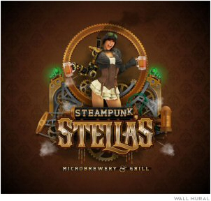 Congrats to the Grand Prize winner, Joseph Diaz owner of Diaz Sign Art for his winning entry entitled Steampunk Stella's.