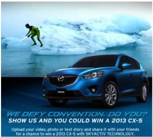 """Mazda Canada """"Defy Convention"""" Facebook Contest. Image: Mazda Canada Inc"""