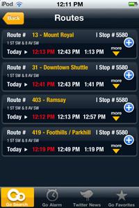 Calgary Transit App