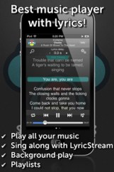 songfreaks LyricStream technology highlights lyrics in time with the music.