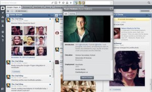 HootSuite Google+ Dashboard