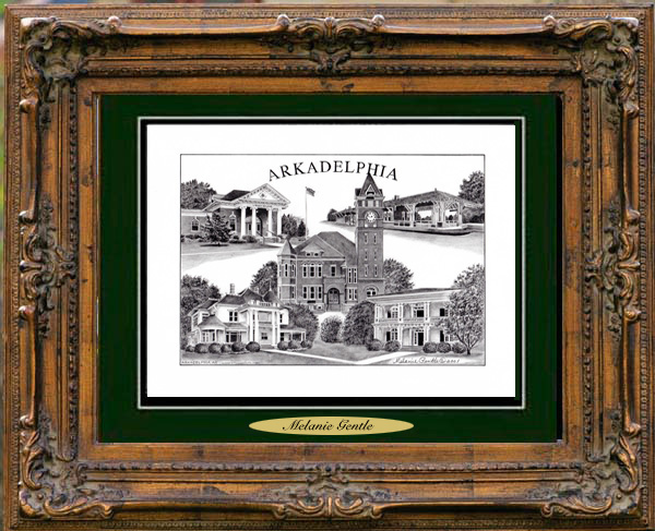 Pencil Drawing of Arkadelphia, AR