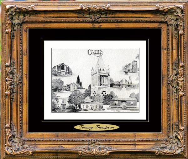 Pencil Drawing of Cadiz, KY