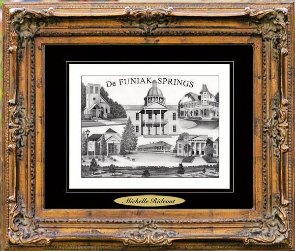 Pencil Drawing of DeFuniak Springs, FL