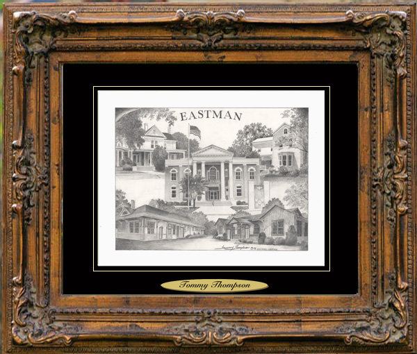 Pencil Drawing of Eastman, GA