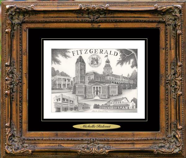 Pencil Drawing of Fitzgerald, GA