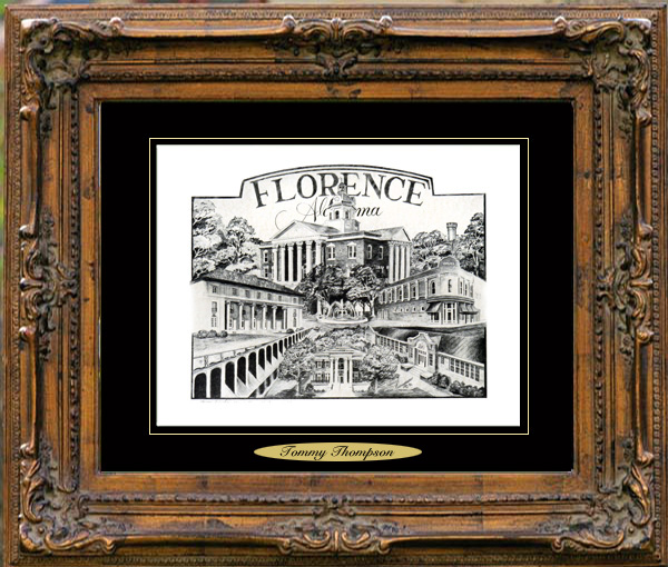 Pencil Drawing of Florence, AL I