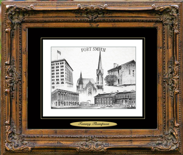 Pencil Drawing of Fort Smith, AR