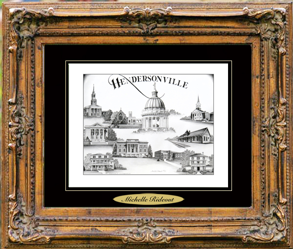 Pencil Drawing of Hendersonville, NC