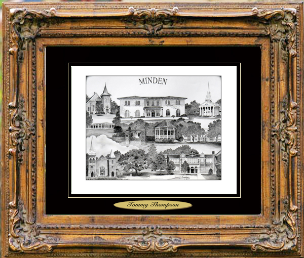 Pencil Drawing of Minden, LA