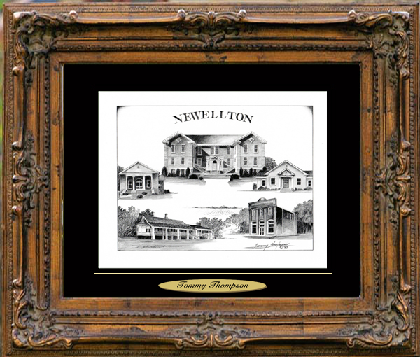Pencil Drawing of Newellton, LA