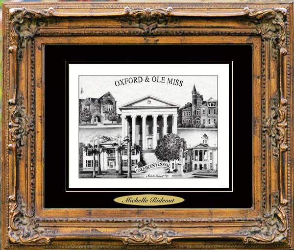 Pencil Drawing of Oxford/Ole Miss, MS