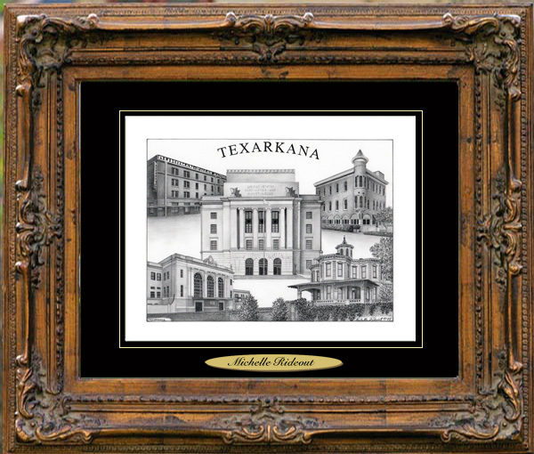 Pencil Drawing of Texarkana, AR, TX