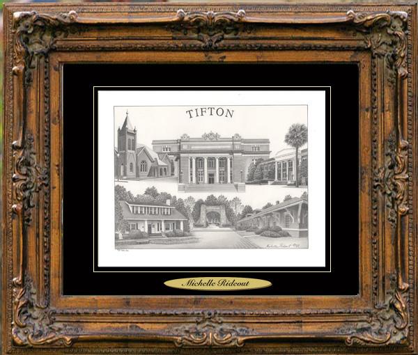 Pencil Drawing of Tifton, GA