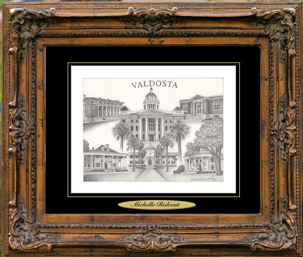 Pencil Drawing of Valdosta, GA