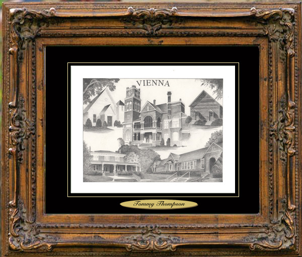 Pencil Drawing of Vienna, GA