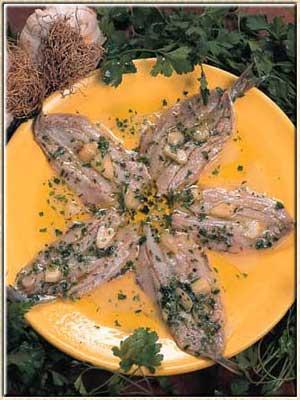 sardines marinées