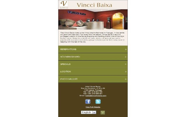 Vincci Hoteles reservations app Mobile