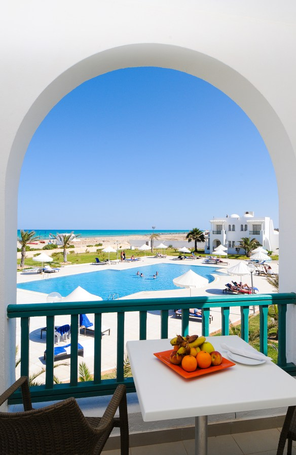Room view, at the hotel Vincci Hélios Beach 4* Djerba.