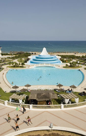 Pool at the hotel Taj Sultan 5* Hammamet, Tunisia.