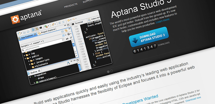 Aptana Studio…better than Dreamweaver, and FREE!