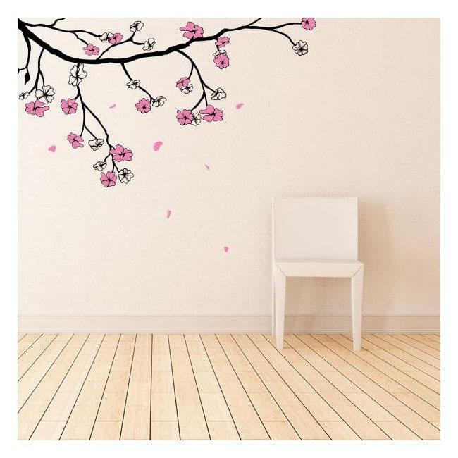 Vinilos Flor de Cerezo o Sakura Japonés