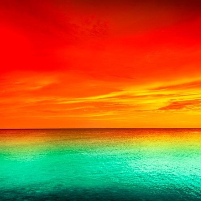 Cute Pastel Color Wallpaper Fotomurales Atardecer Mar