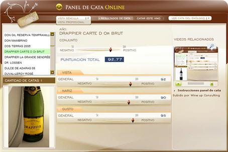 DRAPPIER CARTE D'OR BRUT 92.77 PUNTOS EN WWW.ECATAS.COM POR JOAQUIN PARRA WINE UP