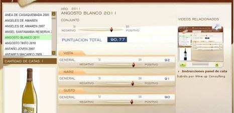 ANGOSTO BLANCO 2011 - 90,77 PUNTOS EN WWW.ECATAS.COM POR JOAQUIN PARRA WINE UP