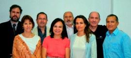 De izquierda a derecha: Juan Manuel Terceño, Antonia Muñoz, Juan Carlos Ruiz, Mar Romero, Paco Garrido, Sara Peñas, Javier Gila y Luis Alberto Gonzales