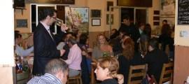 Joaquín Parra catando un vino dentro del Wine UP Tour en la pasada edición de Puracepa Málaga