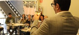 Joaquín Parra, en una cata del Wine UP Tour