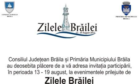 Zilele Brailei 2016 Program