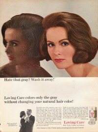 """1965 Loving Care Hair Color Vintage Ad """"Hate that gray?"""""""