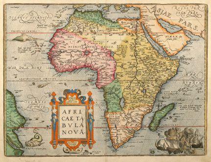 Africae Tabula Nova - Ortelius, Africa Continent, 1603