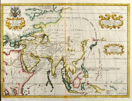 A New Map of Ancient Asia - Wells, Asian Continent, 1738