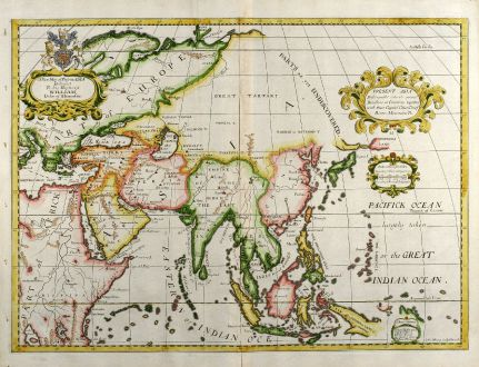 A New Map of Present Asia - Wells, Asian Continent, 1738