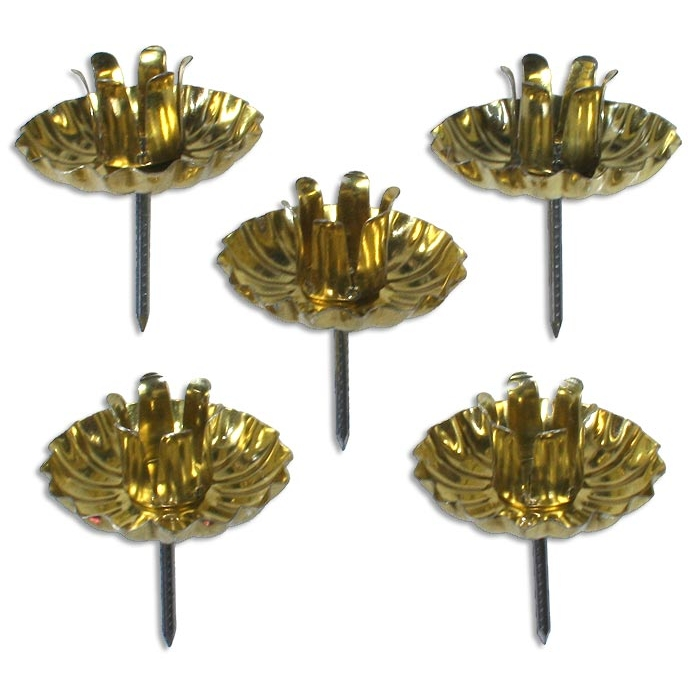 10 Gold Advent Wreath Candle Holders Made In Germany