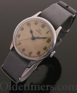 1940s rare World War Two steel vintage Omega 'Pilots' watch