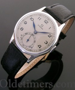 1940s silver round vintage Omega watch